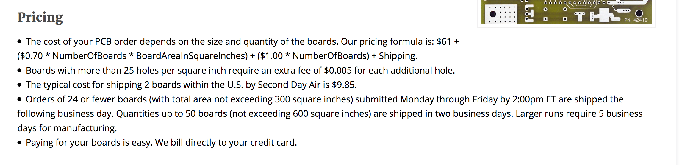 expensive to prototype